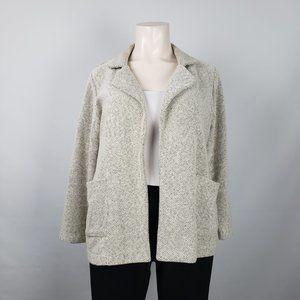 Baccini White Cotton Light Jacket Sweater Size 1X